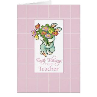 Professor, buquê de bênçãos da páscoa cartão comemorativo