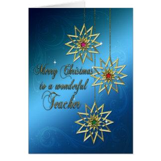 Professor, cartão de Natal