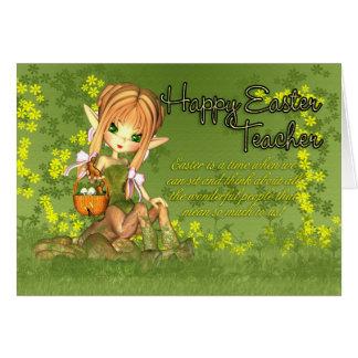 Professor - cartão de páscoa - centauro bonito com