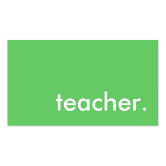 professor. (cor customizável) cartão de visita