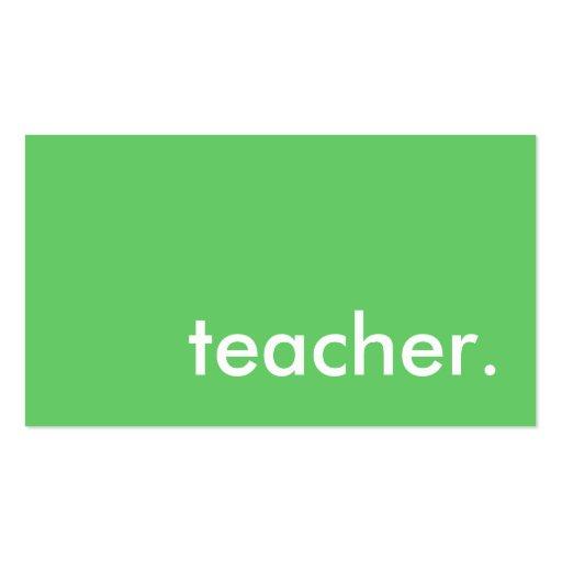 professor. (cor customizável) modelo cartão de visita
