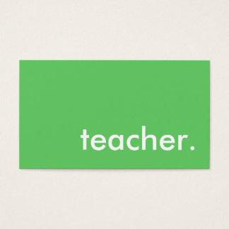 professor. (cor customizável) cartão de visitas
