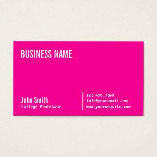 Professor cor-de-rosa de néon chique cartão de