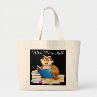Professor da coruja da leitura - SRF Sacola Tote Jumbo
