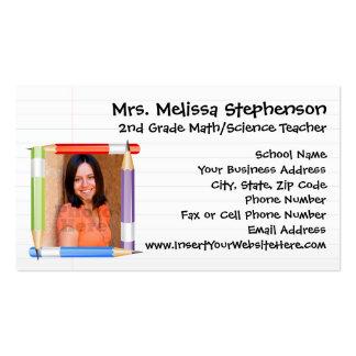 Professor da foto/cartão telefónico feitos sob cartoes de visita