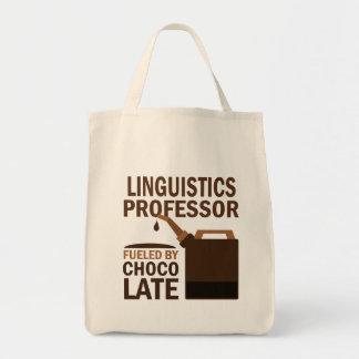Professor da linguística presente (engraçado) sacola tote de mercado