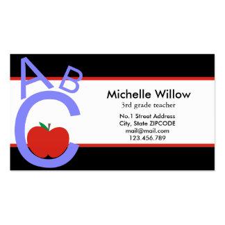 Professor de ABC Apple Cartões De Visitas