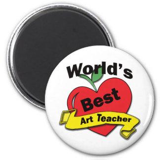 Professor de arte do mundo o melhor ímã redondo 5.08cm