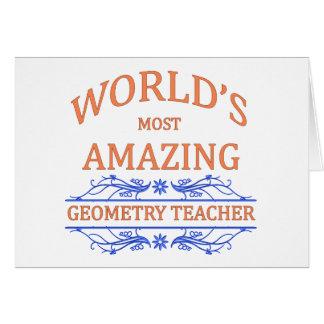 Professor de geometria cartão comemorativo