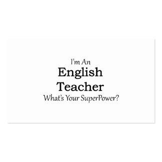 Professor de inglês cartão de visita