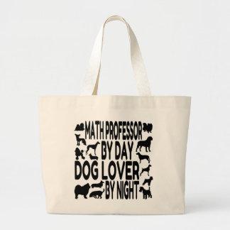 Professor de matemática do amante do cão sacola tote jumbo