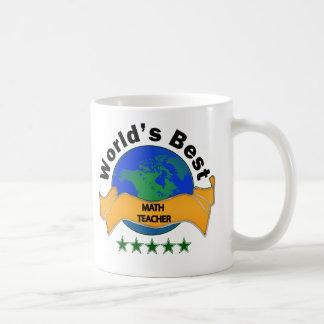 Professor de matemática do mundo o melhor caneca de café