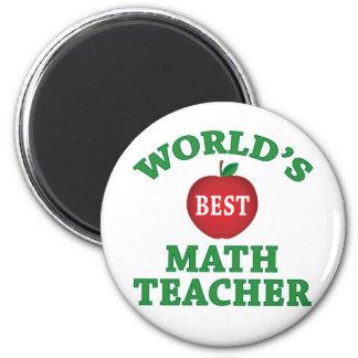 Professor de matemática do mundo o melhor ímã redondo 5.08cm
