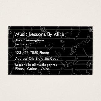 Professor de música cartão de visitas