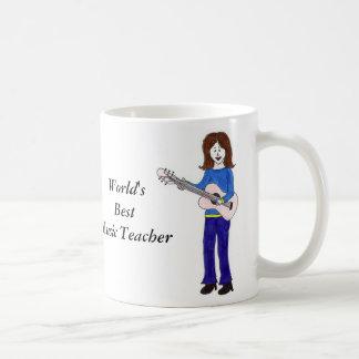 Professor de música do mundo o melhor caneca de café