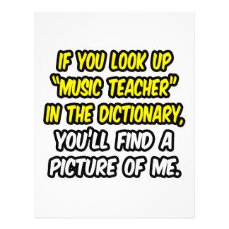 Professor de música no dicionário… minha imagem panfleto personalizado