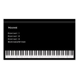 Professor de piano modelos cartões de visita