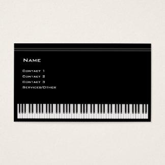 Professor de piano cartão de visitas