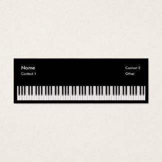 Professor de piano cartão de visitas mini
