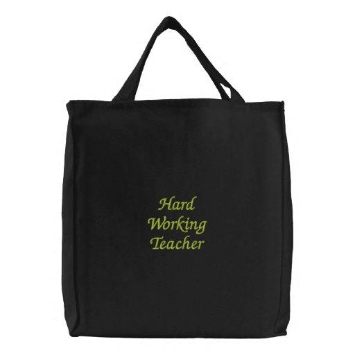 Professor de trabalho duro bolsas para compras