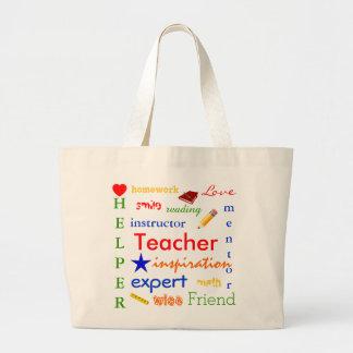 Professor definido sacola tote jumbo