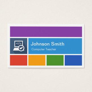 Professor do computador - estilo moderno criativo cartão de visitas