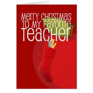 Professor do Feliz Natal Cartão Comemorativo