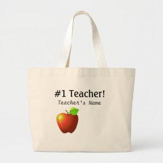 Professor do número um sacola tote jumbo