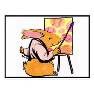 Professor E Bunny Cartões Postais