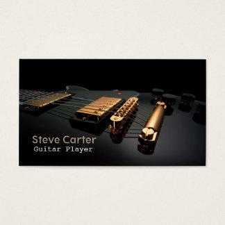 Professor elétrico do artista do guitarrista do cartão de visitas