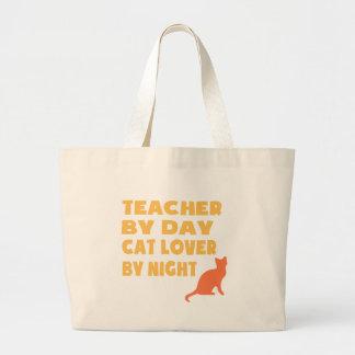 Professor em o dia (amarelo) sacola tote jumbo