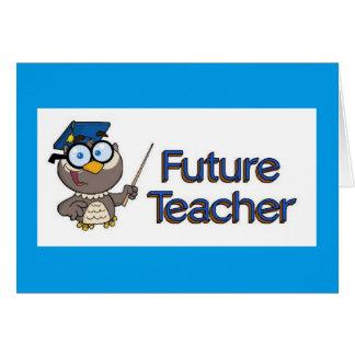 Professor futuro cartão