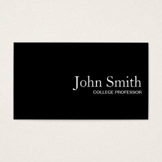 Professor liso cartão de visita do código do preto