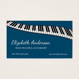 Professor na moda & moderno, de piano & cartão de visitas
