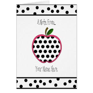 Professor Notecard - bolinhas Apple Cartão