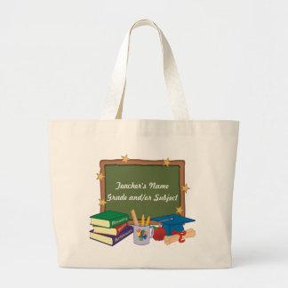 Professor personalizado bolsas de lona