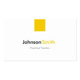 Professor pré-escolar - amarelo ambarino simples cartoes de visita