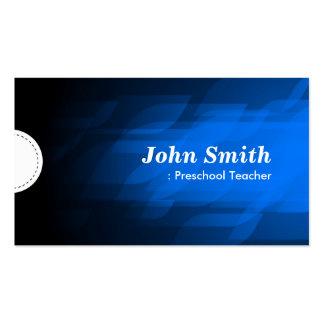 Professor pré-escolar - azul escuro moderno cartão de visita