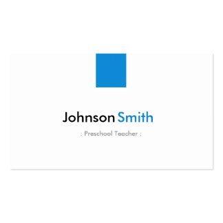 Professor pré-escolar - azul simples do Aqua Cartão De Visita