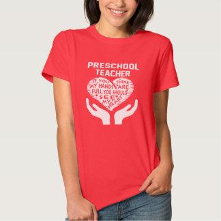 Professor pré-escolar camiseta