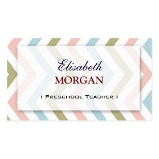 Professor pré-escolar - Chevron gracioso natural