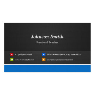 Professor pré-escolar - customizável profissional cartão de visita