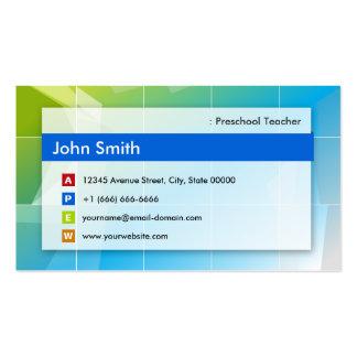 Professor pré-escolar - de múltiplos propósitos cartão de visita