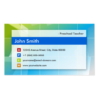 Professor pré-escolar - de múltiplos propósitos mo cartoes de visitas