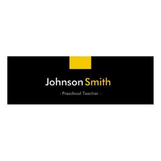 Professor pré-escolar - estojo compacto amarelo cartão de visita skinny