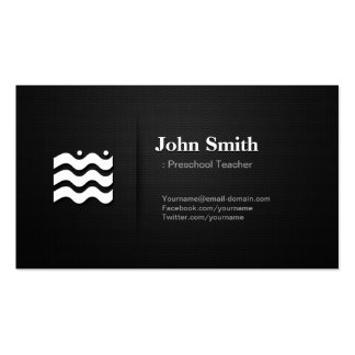 Professor pré-escolar - ícone variável superior cartão de visita