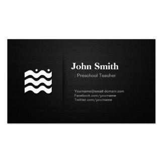 Professor pré-escolar - ícone variável superior modelo cartões de visita