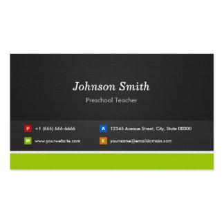 Professor pré-escolar - profissional e prêmio cartão de visita