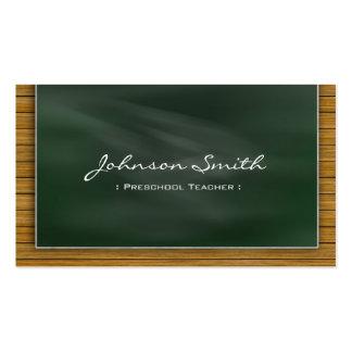 Professor pré-escolar - quadro legal modelos cartões de visitas