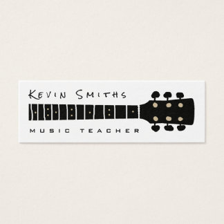 professor preto/do branco música legal e moderna cartão de visitas mini